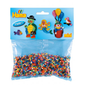 Hama Mini Perler 583 Mix Pose 47 Ass. farver - 7.500 stk