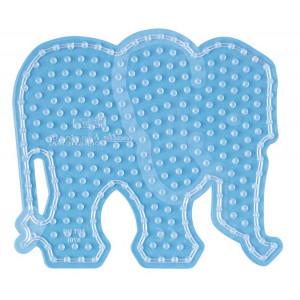 Image of   Hama Maxi Perleplade 8201 Elefant Transparent - 1 stk