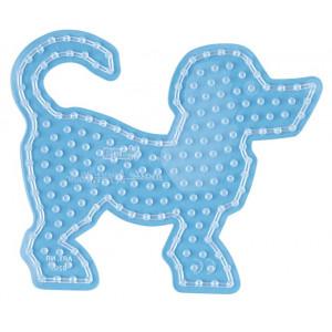 Image of   Hama Maxi Perleplade 8202 Hund Transparent - 1 stk