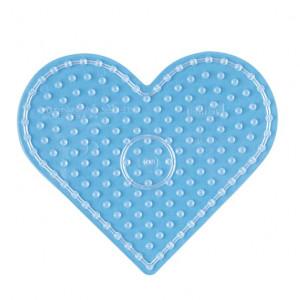 Hama Maxi Perleplade 8206 Hjerte Transparent - 1 stk