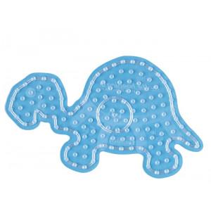 Hama Maxi Perleplade 8210 Skildpadde Transparent - 1 stk
