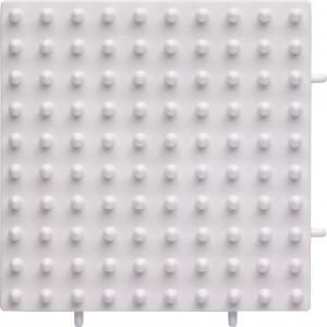 Hama Maxi Perleplade 8213 Samleplade Firkant Hvid 10x10cm - 1 stk