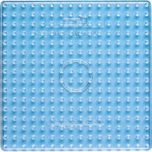 Hama Maxi Perleplade 8214 Firkant Transparent 16x16cm - 1 stk