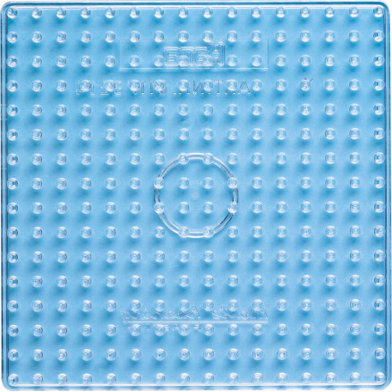 Image of   Hama Maxi Perleplade 8214 Firkant Transparent 16x16cm - 1 stk