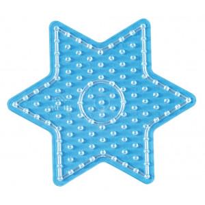 Hama Maxi Perleplade 8222 Stjerne Transparent - 1 stk