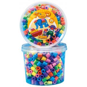 Image of   Hama Maxi Perler 8571 Pastel Mix 50 - 600 stk