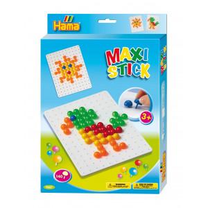Hama Maxi Stick Ophængsæske 9667 med 140 Maxi Sticks & Firkantet hulpl