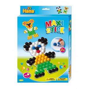Hama Maxi Stick Ophængsæske 9668 med 140 Maxi Sticks & Firkantet hulpl