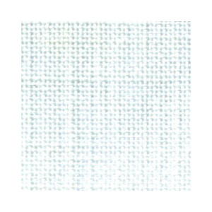 Permin Hør 12tr Broderistof Hvid 46x46 cm