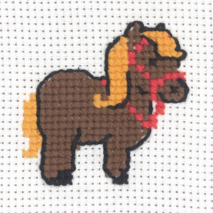 Image of   Permin Broderikit Aida Hest 8x8cm