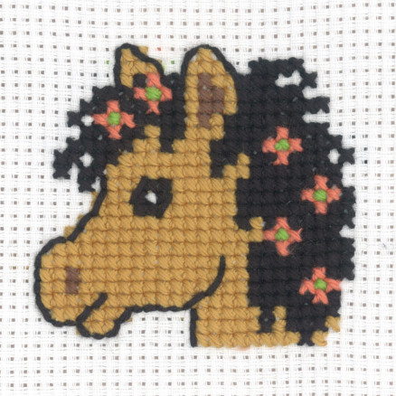 Image of   Permin Broderikit Aida Hestehoved 8x8cm