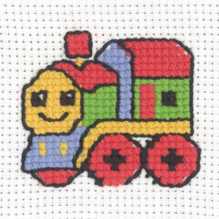 Image of   Permin Broderikit Aida Tog 8x8cm