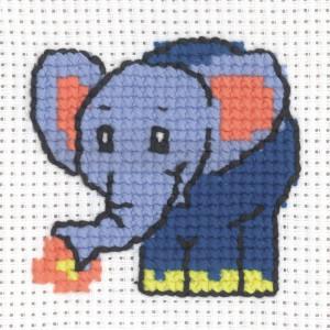 Image of   Permin Broderikit Aida Elefant 8x8cm