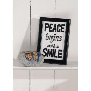 Image of   Permin Broderikit Aida Peace 9x14cm