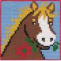 Permin Broderikit Påtegnet Stramaj til Børn Hest 25x25cm