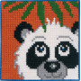 Permin Broderikit Påtegnet Stramaj til Børn Panda 25x25cm
