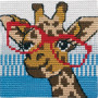 Permin Broderikit Påtegnet Stramaj til Børn Giraf 25x25cm