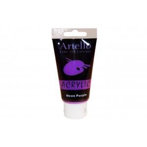 Artello Akrylmaling/Kunstnerfarve Neon lilla 75ml