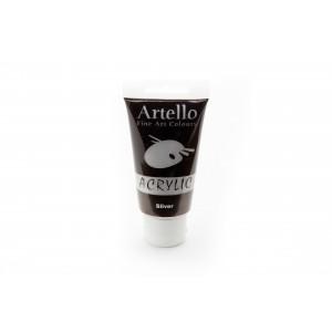 Artello Akrylmaling/Kunstnerfarve Sølv 75ml