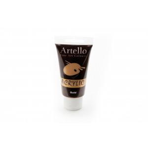 Artello Akrylmaling/Kunstnerfarve Guld 75ml