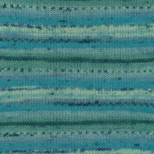 Image of   Drops Fabel Garn Print 340 Blue Lagoon