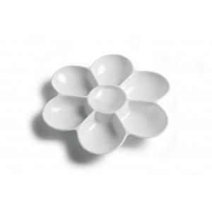 Artino Plastpalette Blomst Hvid 7 rum