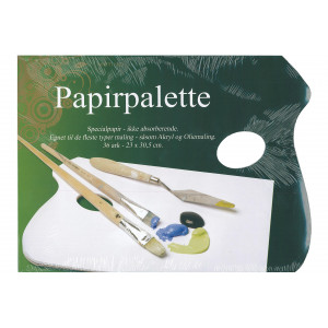 Artino Papirpalette Hvid 23x30,5cm - 36 ark
