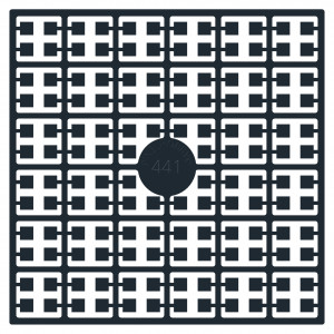 Pixelhobby Midi Perler 441 Sort 2x2mm - 144 pixels
