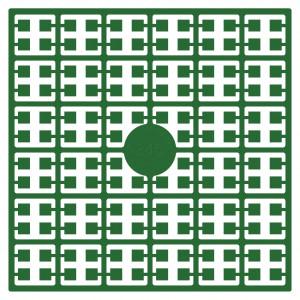 Pixelhobby Midi Perler 345 Mørk smaragdgrøn 2x2mm - 144 pixels