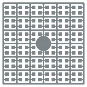 Image of   Pixelhobby Midi Perler 120 Sølvgrå 2x2mm - 144 pixels