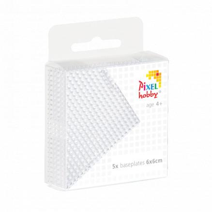 Pixelhobby Midi/XL Perleplade Firkant Transparent 6x6cm - 5 stk thumbnail