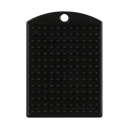 Pixelhobby Nøglering/Medallion Sort 3x4cm - 1 stk thumbnail