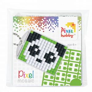 Image of   Pixelhobby Gaveæske Nøgleringssæt Panda 3x4cm
