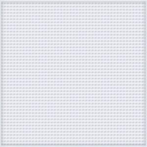 Pixelhobby XL Perleplade Firkant Hvid 12x12cm - 1 stk