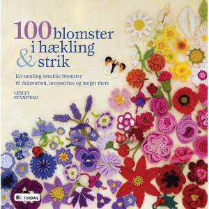 100 blomster i hækling og strik - Bog af Lesley Stanfield