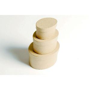 Papæske Oval Ass. størrelser - 3 stk
