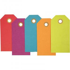Manillamærker 5x10 cm 20 stk. Ass. farver