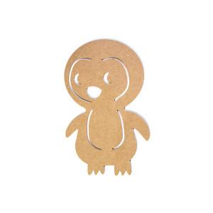 MDF Figur Pingvin 27x17x0,3cm - 1 stk