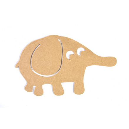 Mdf Figur Elefant 16x27x0,3cm - 1 Stk
