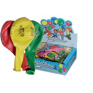 Bini Balloons Balloner Dinosaur Ass. farver 80cm - 8 stk