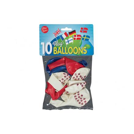 Billede af Bini Balloons Balloner Norsk flag Ø26cm - 10 stk