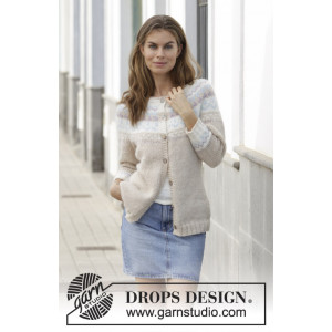 Nougat Cardigan by DROPS Design - Jakke Strikkeopskrift str. S - XXXL