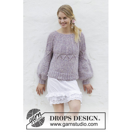 Image of   Fair Lilyby DROPS Design - Bluse Strikkeopskrift str. S - XXXL