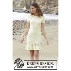 Embrace of the Sunby DROPS Design - Kjole Strikkeopskrift str. S - XXXL