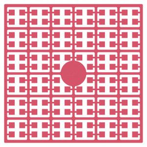 Pixelhobby Midi Perler 520 Lys Hindbær 2x2mm - 144 pixels