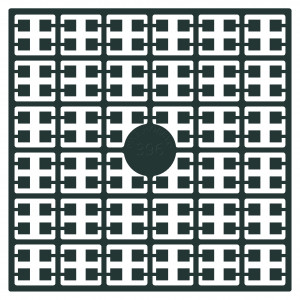 Pixelhobby Midi Perler 396 Ekstra Mørk Dyb Skovgrøn 2x2mm - 144 pixels