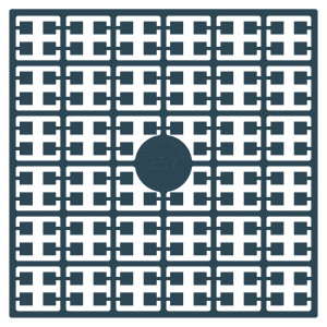 Pixelhobby Midi Perler 357 Meget Mørk Grågrøn 2x2mm - 144 pixels