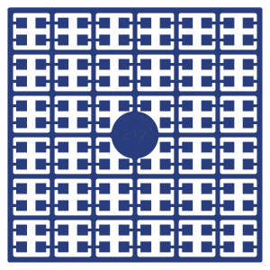Pixelhobby Midi Perler 312 Kobolt Blå 2x2mm - 144 pixels