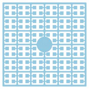 Pixelhobby Midi Perler 288 Ekstra lys Blå Kornblomst 2x2mm - 144 pixels