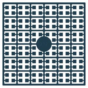 Image of   Pixelhobby Midi Perler 217 Mørk Turkis 2x2mm - 144 pixels